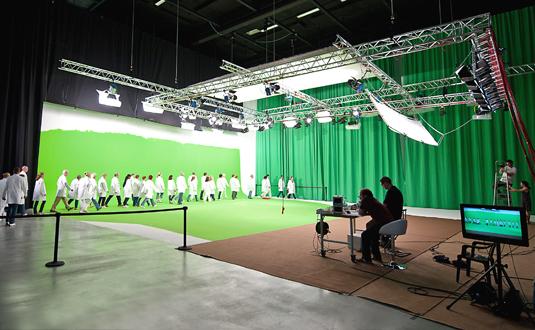 Bacht Hohlkehle im Film- und Fernsehstudio